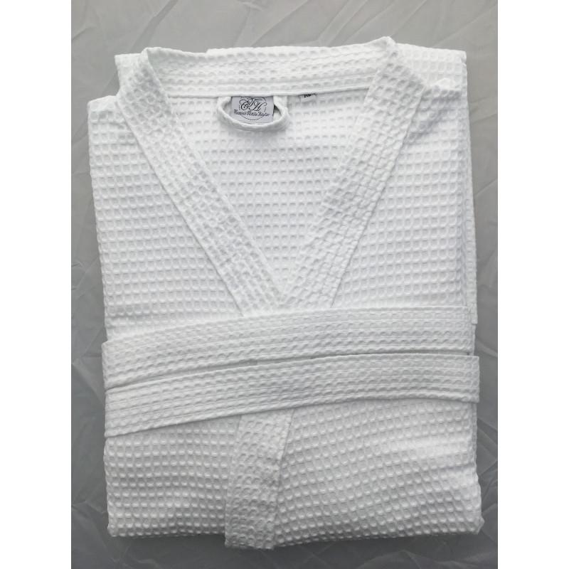 Peignoir HANOI - Coton gaufré (Nid d'Abeille 5/6mm) - 290grs