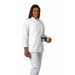 Veste femme manches longues cintrée en polycoton - SABINE - 210 gr/m²