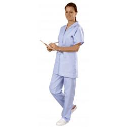 Pantalon santé-médical mixte de couleur - MICHEL(E) - élastiqué polycoton