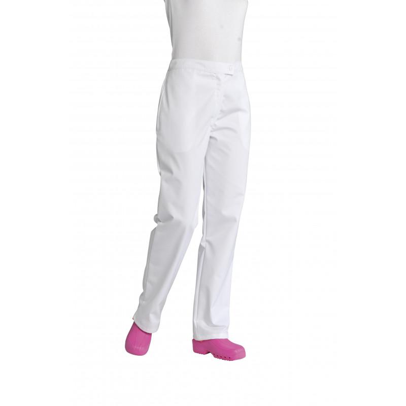 Pantalon de service femme Gisèle, noir ou blanc, en polycoton