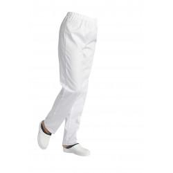 Pantalon élastiquée polycoton blanc mixte - ANDRÉ - 195 gr/m²