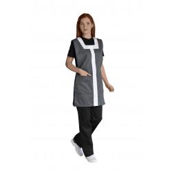Chasuble bicolore avec 2 grandes poches en polycoton - DELPHINE - 195 gr/m²