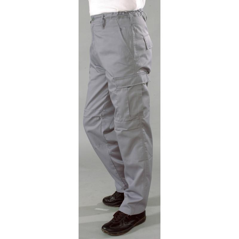 Pantalon de travail en polycoton | Multi-poches | Noir ou gris