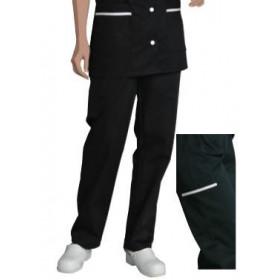 Pantalon ventre plat CLEMENCE - polycoton Noir