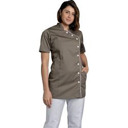 Tunique - ODILE - 2 poches côtés - Ganse et pressions  - Polycoton 195 g