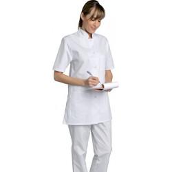blouse-médicale-femme-col mao