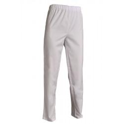 Pantalon médical santé mixte polycoton blanc - ANDRÉ - 195 gr/m²
