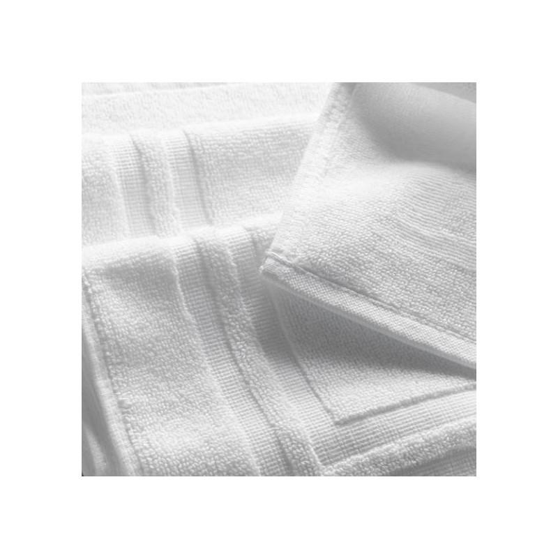 Tapis de bain santé & spa | Qualité supérieur | 100% coton blanc cadré