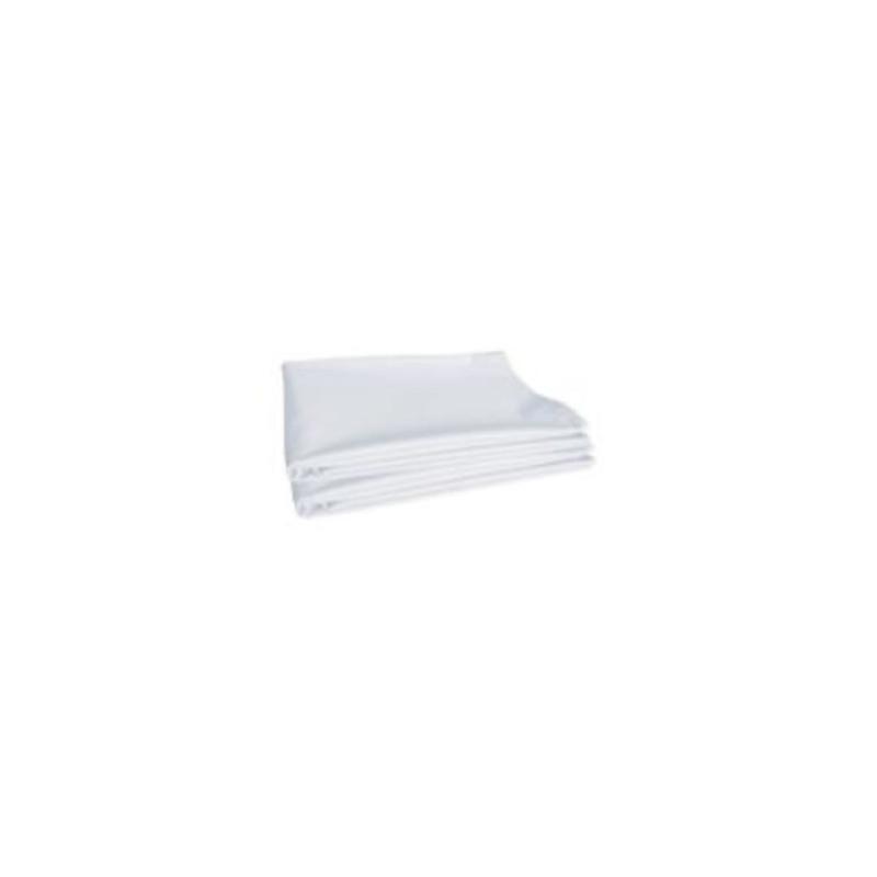 Drap plat pour lit d'hôpitaux très résistant | Polycoton | 2 coloris