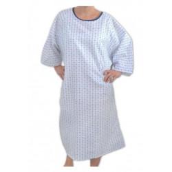 Chemise d'hospitalisation imprimé bleu pour patient