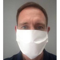 Masques anti projection en tissu lavables et réutilisables